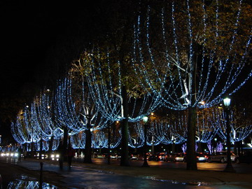 illuminations in Champs Elysées