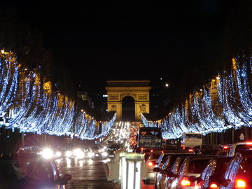 Illuminations of the Champs Elysées