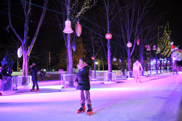 Patinoire Champs Elysees - village Noel 2014