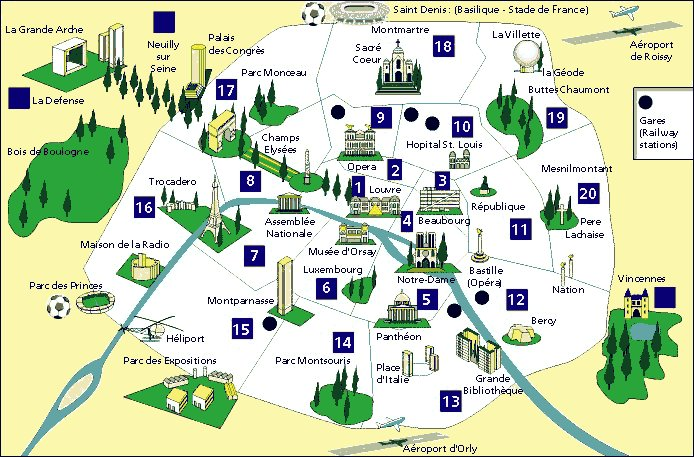Plans Monuments Paris